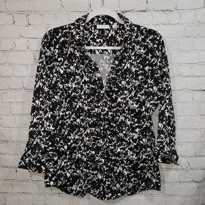 New  York & Company Ladies Button Up Top